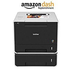 Brother Printer HLL8350CDWT Wireless Color Laser Printer, Amazon Dash Replenishment Enabled