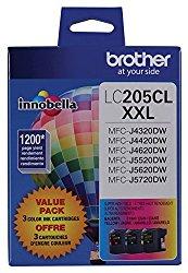Brother Printer LC2053PKS Multi Pack Ink Cartridge, Cyan/Magenta/Yellow
