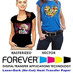 Forever Laser Dark No-Cut A+B Paper 8.5″ X 11″- 25 Sheets Heat Transfer Paper