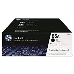 HP 85A (CE285D) Black Original LaserJet Toner Cartridges, 2 pack