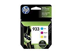 HP 933 Cyan, Magenta & Yellow Original Ink Cartridges, 3 pack (N9H56FN)