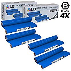 LD © Compatible Replacements for Brother PC402 Set of 4 Thermal Fax Ribbon Refill Rolls for use in Brother FAX 560, FAX 575, FAX 580MC, Intellifax 560, 565, 580MC, and MFC-660MC Printers
