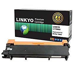 LINKYO Compatible Replacement for Brother TN660 TN630 High Yield Toner Cartridge (Black)