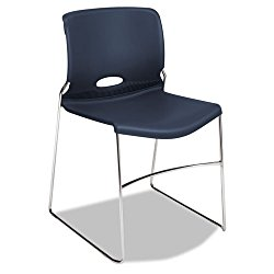 Olson Series Stacker Chairs (Set of 4) Seat Finish: Navy