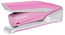 PaperPro inCOURAGE 20 Reduced Effort Desktop Stapler with Built-in Staple Remover, 20 Sheets, Pink/White (1188)