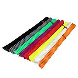 PIXNOR 3D Pen PLA Filament Refills 1.75mm 8 Colors 20CM Each 320pcs Value Pack