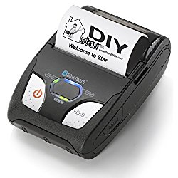 Star Micronics 39632110 Model SM-S230I-UB40 Portable Thermal Mobile Printer, Tear Bar, iOS/Android/Windows, Bluetooth/USB, With Charger, 2″ Size, Black