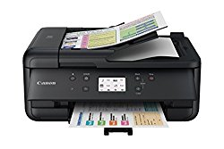 Canon PIXMA TR7520 Wireless Home Office All-In-One Printer with Scanner, Copier and Fax: Airprint and Google Cloud Compatible, Black