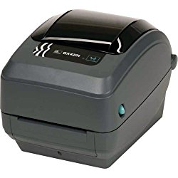 Zebra GX420t Monochrome Desktop Direct Thermal/Thermal Transfer Label Printer with Fast Ethernet Technology, 6 in/s Print Speed, 203 dpi Print Resolution, 4.09″ Print Width, 100-240V AC