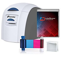 Magicard Pronto ID Card Printer & Complete Supplies Package with badgeDesigner ID Software
