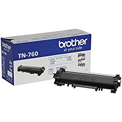 Brother Genuine TN760 Black High Yield Toner Cartridge, Page Yield Up To 3,000 Pages, Amazon Dash Replenishment Cartridge