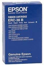 Box of 10 Genuine Epson ERC-38B Black Printer Ribbon Cartridges
