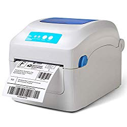 Fangtek Label Printer – Direct Thermal High Speed Printer – Easy to Setup & Multifunctional Printing – No Ink/TTR Required – 4×6 Label Printer – Compare to Dymo 4XL