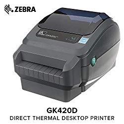 Zebra – GX420d Direct Thermal Desktop Printer for Labels, Receipts, Barcodes, Tags, and Wrist Bands – Print Width of 4 in – USB, Serial, and Ethernet Port Connectivity (Includes Cutter)