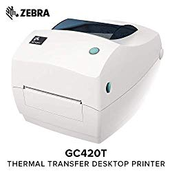 ZEBRA- GC420t Thermal Transfer Desktop Printer for Labels, Receipts, Barcodes, Tags, and Wrist Bands – Print Width of 4 in – USB, Serial, and Parallel Port Connectivity