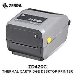 Zebra – ZD420t Thermal Transfer Desktop Printer for Labels and Barcodes – Print Width 4 in – 203 dpi – Interface: USB – ZD42042-T01000EZ