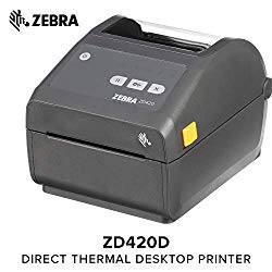 Zebra – ZD420d Direct Thermal Desktop Printer for Labels and Barcodes – Print Width 4 in – 203 dpi – Interface: WiFi, Bluetooth, USB – ZD42042-D01W01EZ