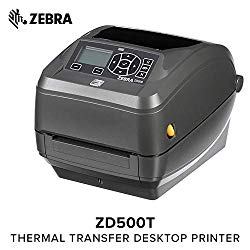 Zebra – ZD500t Thermal Transfer Desktop Printer for Labels and Barcodes – Print Width 4 in – 300 dpi – Interface: WiFi, Bluetooth, Parallel, Serial, USB – ZD50043-T01A00FZ