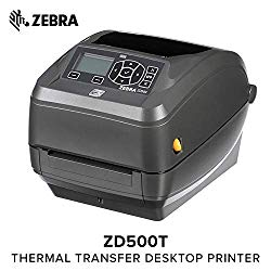 Zebra – ZD500t Thermal Transfer Desktop Printer for Labels and Barcodes – Print Width 4 in – 203 dpi – Interface: WiFi, Bluetooth, Ethernet, Parallel, Serial, USB – with Cutter – ZD50042-T21A00FZ