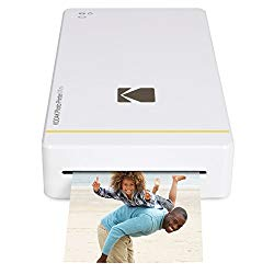 Kodak Mini Portable Mobile Instant Photo Printer – Wi-Fi & NFC Compatible – Wirelessly Prints 2.1 x 3.4″ Images, Advanced DyeSub Printing Technology (White) Compatible with Android & iOS