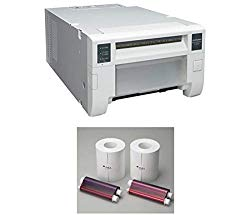 Mitsubishi CP-D70DW Pro-Performance Dye-Sub Photo Printer – Bundle w/Electric Two 6″ Wide Paper Rolls and Inksheet, 2-Roll Box CP Series Thermal Printers