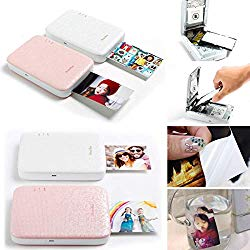 Photobee Portable Sticker Photo Printer – Pink (12 Sheets of Sticky-Backed Photo Paper are Included)