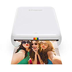 Polaroid Zip Wireless Mobile Photo Mini Printer (White) Compatible w/iOS & Android, NFC & Bluetooth Devices