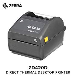 Zebra – ZD420d Direct Thermal Desktop Printer for Labels and Barcodes – Print Width 4 in – 203 dpi – Interface: USB – ZD42042-D01000EZ