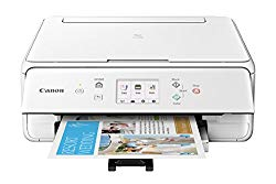 Canon TS6120 Wireless All-In-One Printer with Scanner and Copier: Mobile and Tablet Printing, with Airprint(TM) and Google Cloud Print compatible, White
