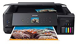 Epson Expression Premium ET-7750 EcoTank Wireless Wide-Format 5-Color All-in-One Supertank Printer with Scanner, Copier and Ethernet