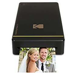 Kodak Mini Portable Mobile Instant Photo Printer – Wi-Fi & NFC Compatible – Wirelessly Prints 2.1 x 3.4″ Images, Advanced DyeSub Printing Technology (Black) Compatible with Android & iOS