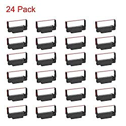 Bigger 24-Pack ERC30 ERC-30 ERC 30 34 38 B/R Compatible Cash Register Ink Ribbon Used for ERC38 NK506 (Black and Red)
