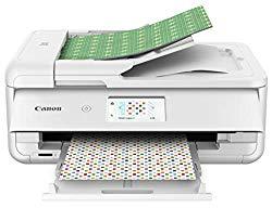Canon TS9521C Wireless Crafting Printer, 12X12 Printing, White, Amazon Dash Replenishment enabled