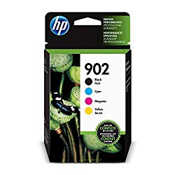 HP 902 | 4 Ink Cartridges | Black, Cyan, Magenta, Yellow | T6L98AN, T6L86AN, T6L90AN, T6L94AN