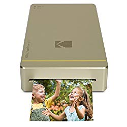 Kodak Mini Portable Mobile Instant Photo Printer – Wi-Fi & NFC Compatible – Wirelessly Prints 2.1 x 3.4 Images, Advanced DyeSub Printing Technology (Gold) Compatible with Android & iOS