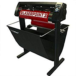 New 28″ USCutter LaserPoint 3 (LP3) Vinyl Cutter with ARMS Contour Cutting, Stand and Basket