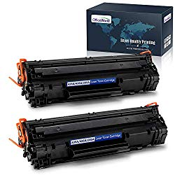 OfficeWorld Compatible Toner Cartridge Replacement for HP 85A CE285A 35A CB435A, Work with HP Laserjet Pro P1102w P1109w M1212nf M1217nfw P1005 P1006 Printer (Black, 2-Pack)