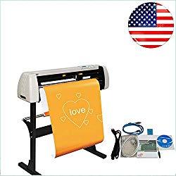 Ovovo 28 Inch Vinyl Cutter Plotter Machine 720mm Paper Feed Vinyl Cutter Plotter Sign Cutting Plotter Machine with Stand