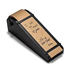 RETTEL Desktop Roller Kraft Paper Dispenser 1 Kraft Paper Roll Included (Black)
