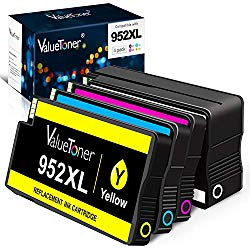 Valuetoner Compatible Ink Cartridges Replacement for HP 952 XL 952XL 952 High Yield for OfficeJet Pro 8710 8720 7740 8740 7720 8715 8702-Upgraded Chips (1 Black,1 Cyan,1 Magenta,1 Yellow, 4 Pack)
