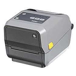 Zebra – ZD620t Thermal Transfer Desktop Printer for Labels and Barcodes – Print Width 4 in – 300 dpi – Interface: Ethernet, Serial, USB – ZD62043-T01F00EZ