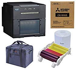 Mitsubishi CP-M1A Professional Dye Sub Photo Printer for Booth and Event Photography Bundle with Slinger Padded Bag, 4×6-inch Media (750 Prints), Includes 3 Year Warranty